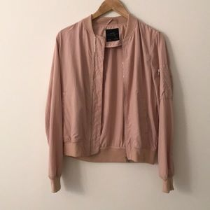Blush Zara bomber jacket